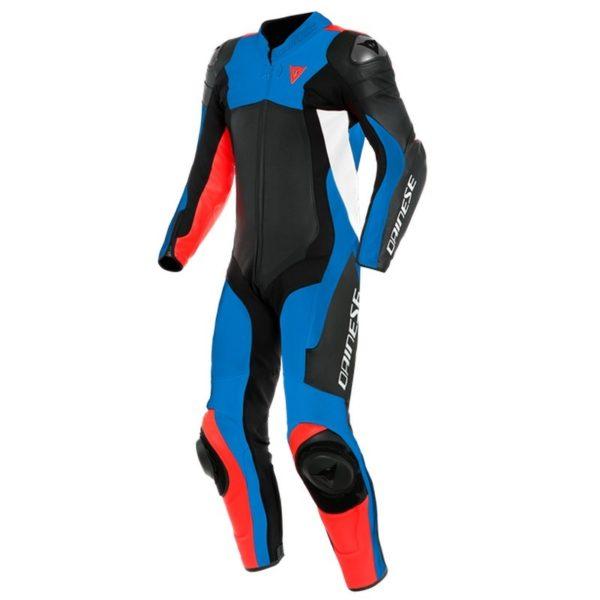 mono-dainese-assen-2-1pc-perforado-negro-azul-cielo-rojo-fluor