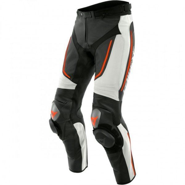 pantalon-de-cuero-dainese-alpha-perforado-blanco-negro-rojo-fluor