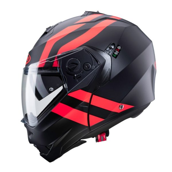 casco-modular-caberg-duke-2-superlegend-negro-mate-rojo-fluor