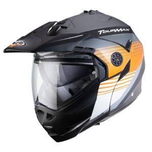 casco-caberg-tourmax-titan-gris-naranja-blanco-mate