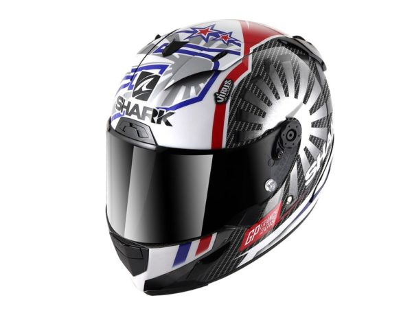 Casco Shark Race-R Pro Carbon ZARCO GP FRANCE 2019 Carbon Chrom Red
