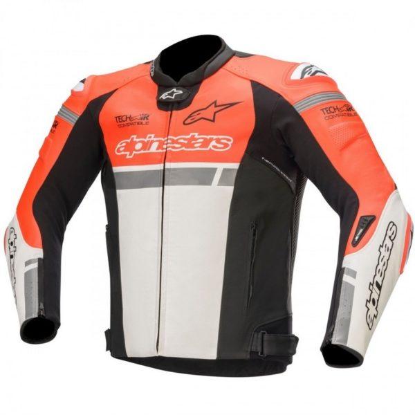 chaqueta-alpinestars-missile-ignition-leather-jacket-tech-air-compatible-roja-fluor-blanca-negra