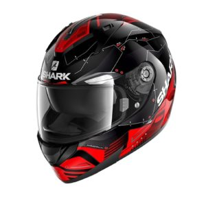 Casco Shark RIDILL 1.2 MECCA Black red silver