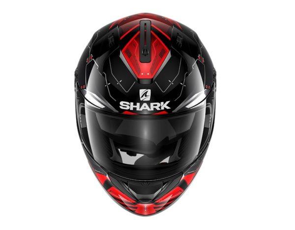 Casco Shark RIDILL 1.2 MECCA Black red silver
