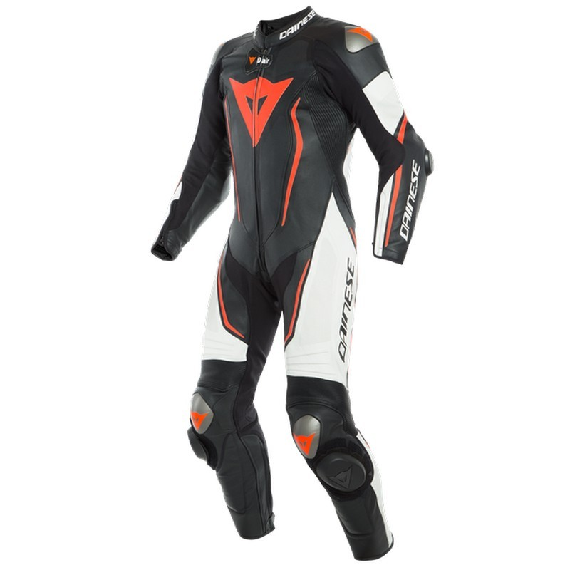 Mono Dainese MISANO 2 D-AIR PERF 1PC Black White Fluo Red