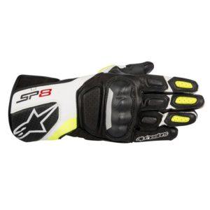 guantes-de-cuero-alpinestars-sp-8-v2-negros-blancos-amarillos-fluor