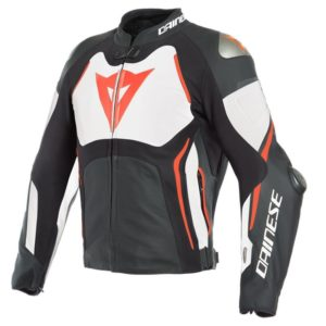 Chaqueta Dainese TUONO D-AIR Black White Fluo Red