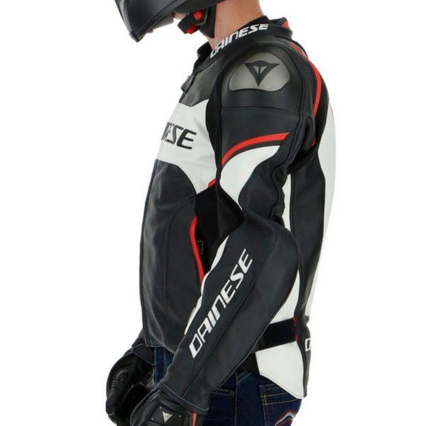 Chaqueta Dainese RACING 3 D-AIR Black White Lava Red