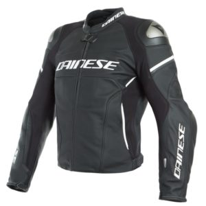 Chaqueta Dainese RACING 3 D-AIR Black-Matt Black Matt White