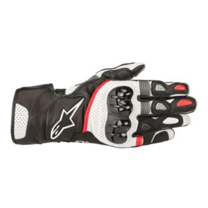 - Guantes Alpinestars SP-2 v2 Leather Glove Negros Blancos Rojos -