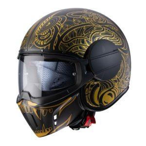 casco-caberg-ghost-maori-negro-oro-mate