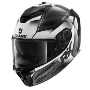 casco-shark-spartan-gt-carbon-shestter-negro-blanco