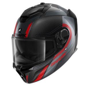 casco-shark-spartan-gt-carbon-tracker-negro-rojo