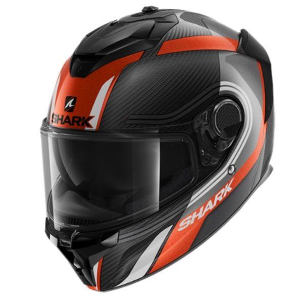 casco-shark-spartan-gt-carbon-tracker-negro-antracita-naranja-blanco