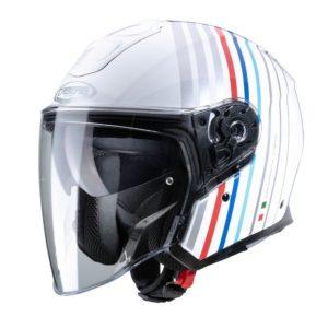 Casco CABERG FLYON BAKARI D6 WHITE/SILVER/BMW COLORS