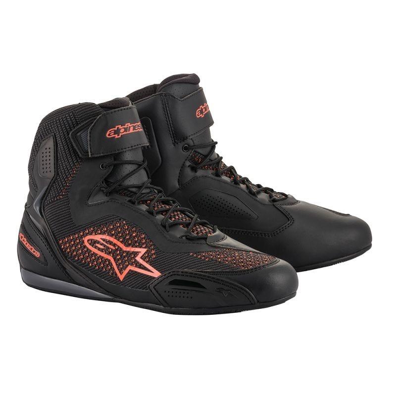 botas-alpinestars-faster-3-rideknit-negro-rojo-fluor