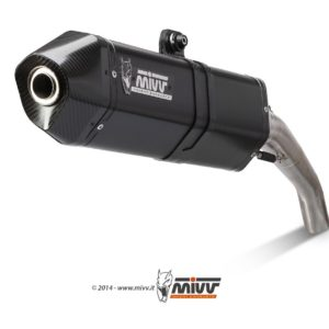 ESCAPES MIVV BMW - Mivv speed edge steel black BMW F 650 GS 2008+ -