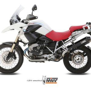 ESCAPES MIVV BMW - Mivv Speed edge , STEEL BLACK BMW R 1200 GS (2010 en adelante) -