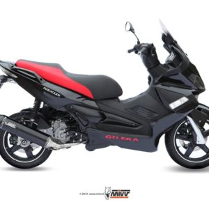 ESCAPES MIVV GILERA - SISTEMA COMPLETO Mivv STRONGER STEEL BLACK Gilera Nexus 300 2008 -