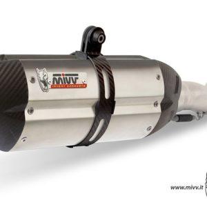 MOTO GUZZI - Escape MIVV SUONO INOX COPA CARBONO Moto Guzzi BREVA 1100 (2005+) -