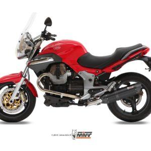 MOTO GUZZI - Escape MIVV SUONO STEEL BLACK Moto Guzzi BREVA 1100 (2005+) -