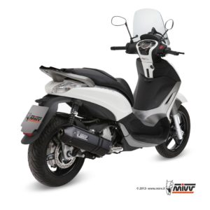 PIAGGIO - SISTEMA COMPLETO MIVV SPEED EDGE STEEL BLACK Piaggio BEVERLY 350 (2010+) -