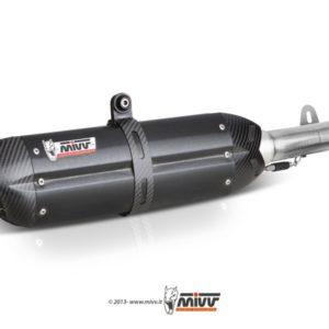 ESCAPES MIVV TRIUMPH - Escape MIVV Triumph TIGER 800 (2011+) Suono STEEL BLACK -