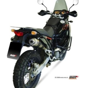 ESCAPES MIVV KTM - Escape MIVV KTM LC8 950 / ADVENTURE (2003-2005) 2 ESCAPES REDONDOS CARBONO -