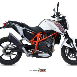 ESCAPES MIVV KTM - Escape MIVV KTM DUKE 690 (2012+)SUONO STEEL BLACK -