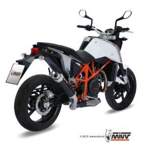 ESCAPES MIVV KTM - Escape MIVV KTM DUKE 690 (2012+) GP STEEL BLACK -