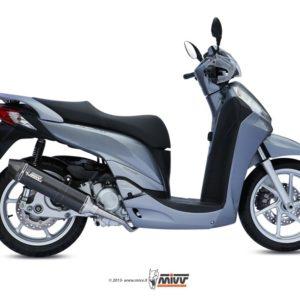 ESCAPES MIVV HONDA - SISTEMA COMPLETO Mivv Honda SH 300 2007+ STRONGER STEEL BLACK -