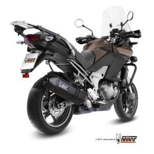 ESCAPES MIVV KAWASAKI - ESCAPE MIVV Kawasaki VERSIS 1000 2012+ SPEED EDGE,STEEL BLACK -
