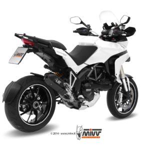 ESCAPES MIVV DUCATI - Escape Mivv SPEED EDGE STEEL BLACK Ducati Multistrada 1200 2010+ -