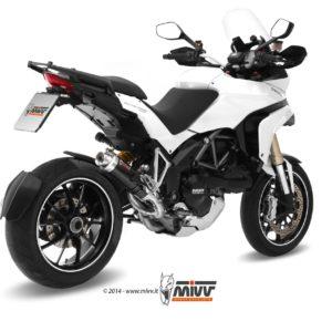 ESCAPES MIVV DUCATI - Escape Mivv GP STEEL BLACK Ducati Multistrada 1200 2010+ -