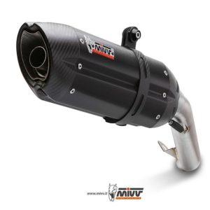 ESCAPES MIVV DUCATI - Mivv Suono STEEL BLACK, copa carbono (bajo colin) Ducati 998 1994+ -