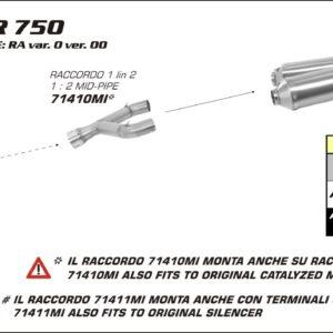 ESCAPES ARROW APRILIA - COLECTOR 2 EN 1 APRILIA SHIVER 750 2010/14 -