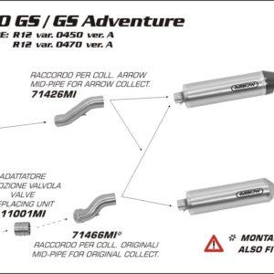 ESCAPES ARROW BMW - COLECTOR CENTRAL ARROW BMW R 1200 GS / GS Adventure '10/12 -