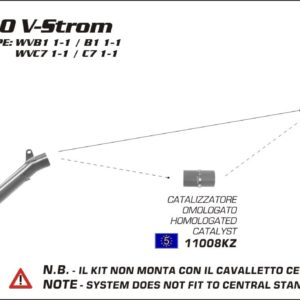 ESCAPES ARROW - CATALIZADOR HOMOLOGADO ARROW SUZUKI DL 650 V-Strom '04/14 -