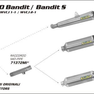 ESCAPES ARROW - ESCAPE ARROW RACE TECH ALUMINIO DARK COPA CARBONO SUZUKI GSF 650 Bandit / Bandit S 07/13 -