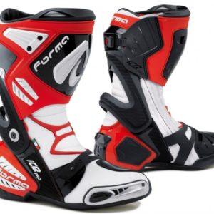 BOTAS PARA MOTOS - BOTAS FORMA RACING ICE PRO COLOR ROJO/NEGRO/BLANCO -