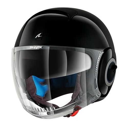 NANO - CASCO SHARK NANO BLANK NEGRO BRILLO -