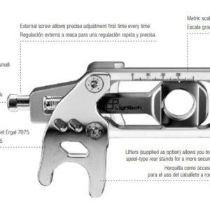 ESTRIBERAS REGULABLES - HORQUILLA TENSOR CADENA PARA T-MAX 530 FTEYA001 -