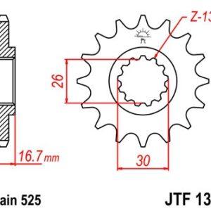 HONDA - PIÑON JT1370 15 DIENTES (CBR600RR 07/15) -