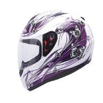 INTEGRALES MT - Casco MT Integral Thunder Butterfly Blanco Perla/Purpura Brillo -