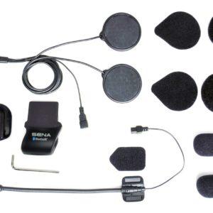INTERCOMUNICADORES PARA MOTO - Kit de Abrazadera para Casco con Locking-type conector- Micrófono de brazo acoplable SMH5