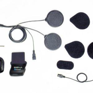 INTERCOMUNICADORES PARA MOTO - Kit de Abrazadera para Casco con Locking-type conector - Micrófono con cable SMH5 -
