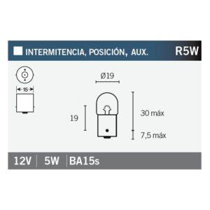 PARA TU MOTO UNIVERSAL - Lámpara OSRAM 5007 R5W -