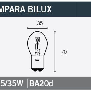 PARA TU MOTO UNIVERSAL - Lámpara OSRAM Bilux 12V35/35W -