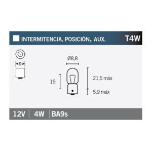 PARA TU MOTO UNIVERSAL - Lámpara OSRAM 3893 T4W -