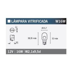 PARA TU MOTO UNIVERSAL - Lámpara OSRAM 921 W16W -